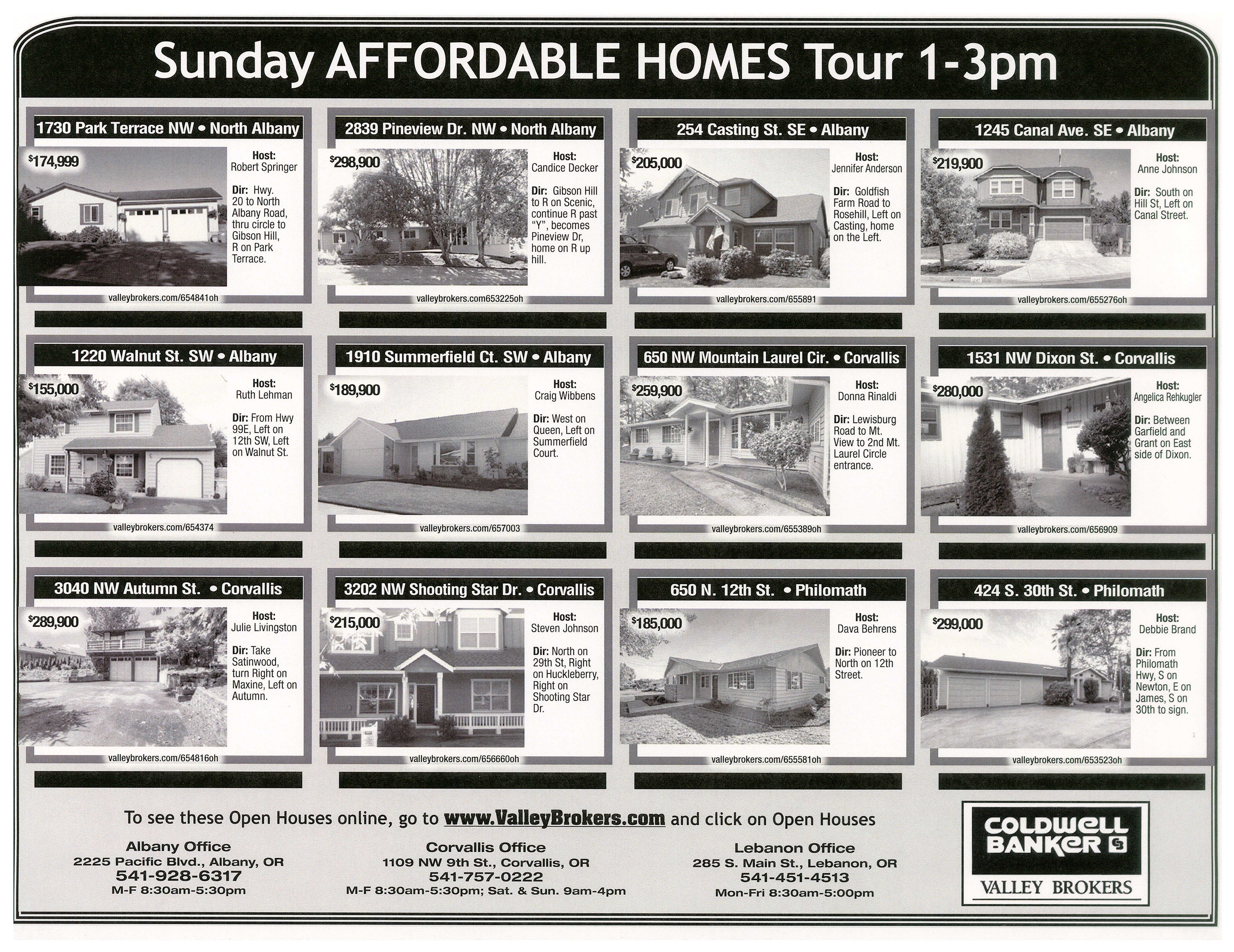 Coldwell Banker Affordable Homes Tour Open House September 23, 2012