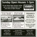 Coldwell Banker Valley Brokers Open House Ad October 7, 2012