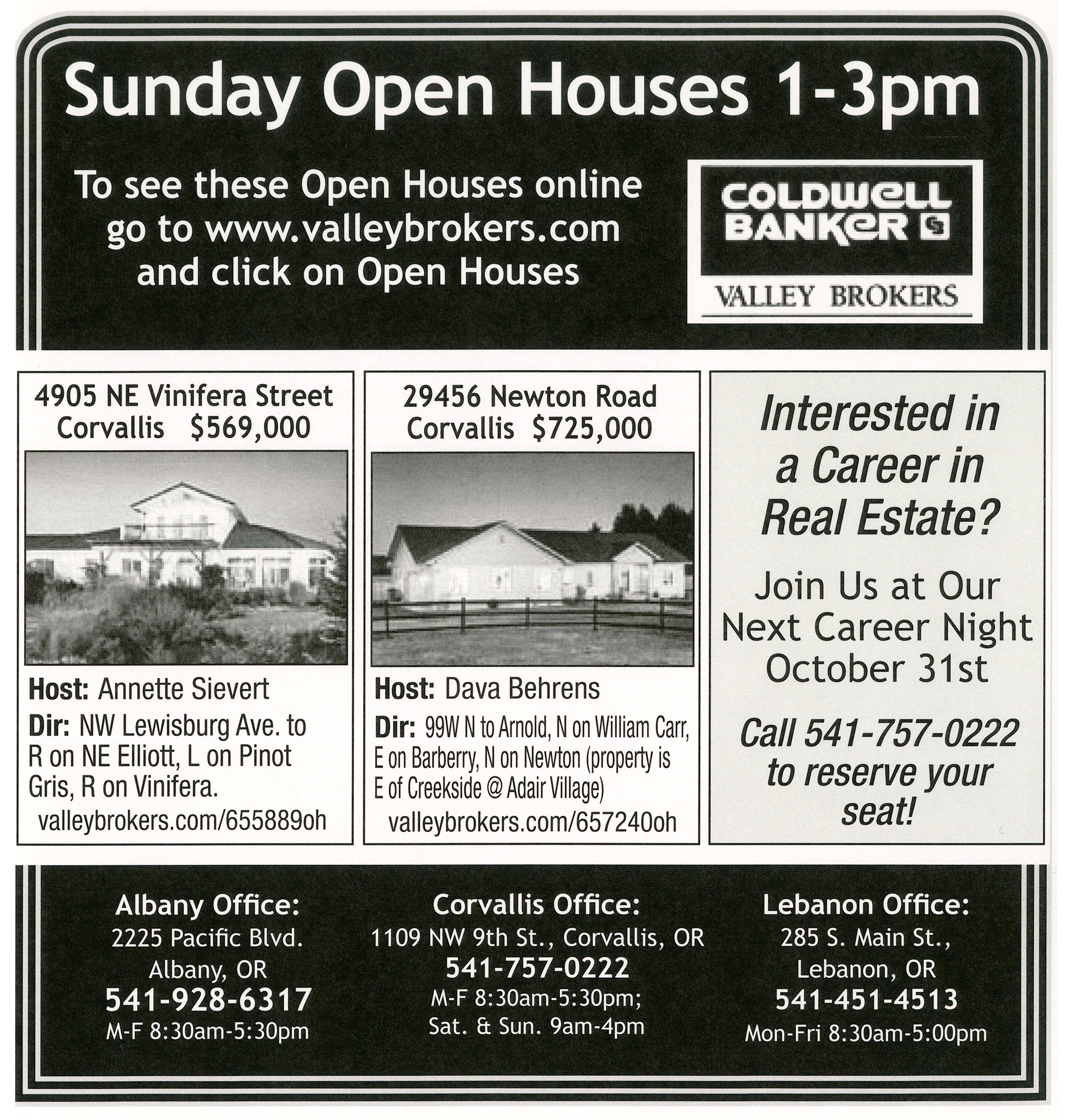 Corvallis oregon open houses october 7 2012 on newton road for Ad house