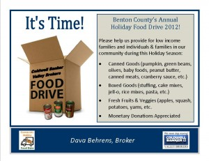 Benton County Annual Food Drive 2012