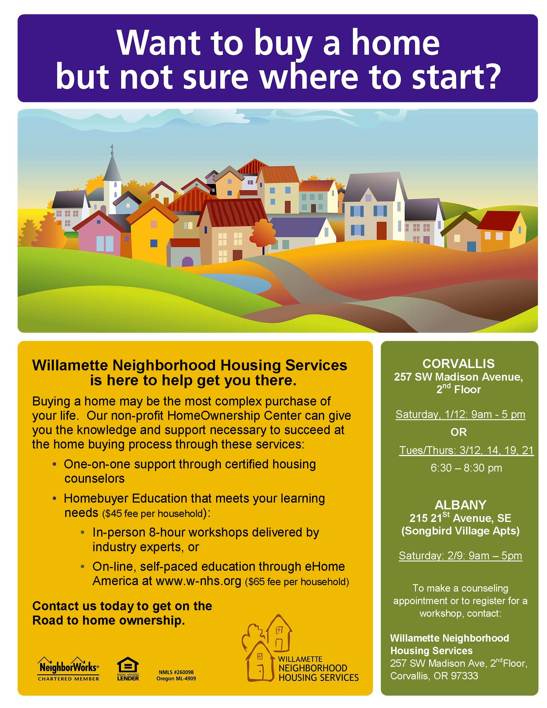 Great Ways to Start the New Year with Willamette Neighborhood Housing Services