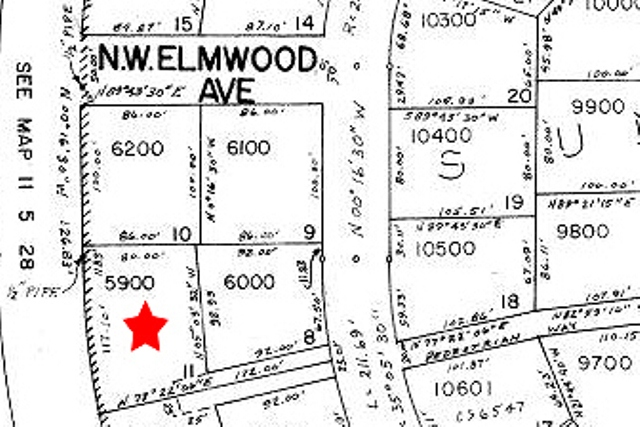 2078 NW Lance Way Corvallis Oregon-- Tax Assessor Map