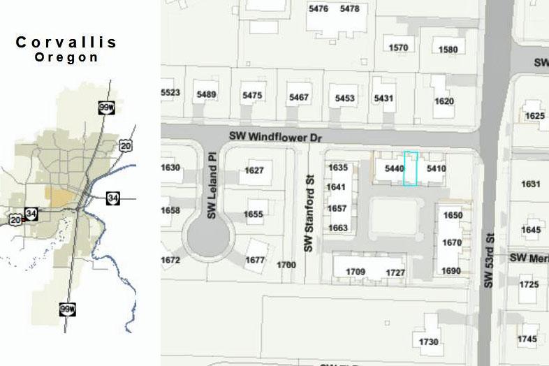 5430 SW Windflower Drive Corvallis Oregon- City Map