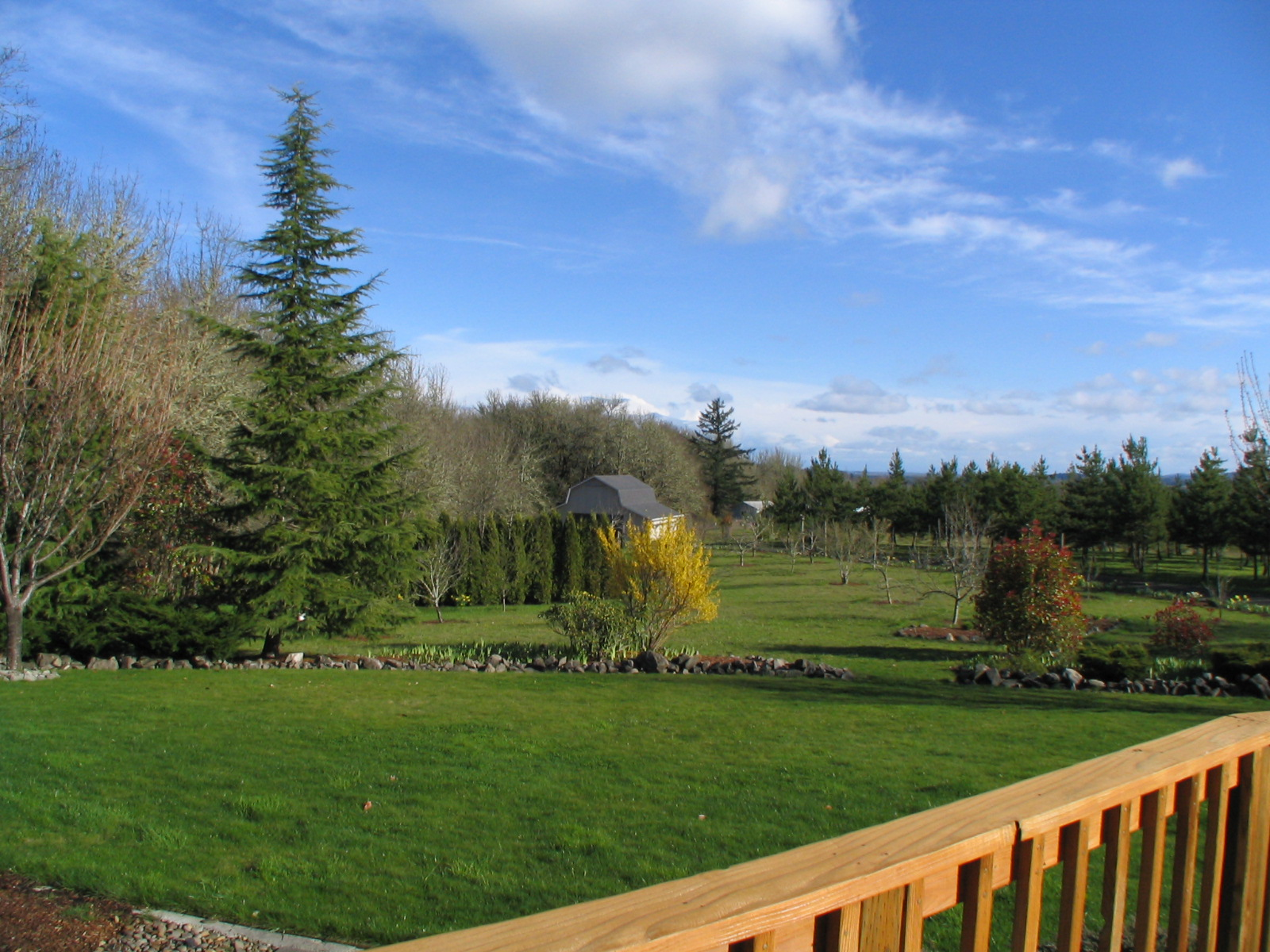 2081 Dawnwood Drive Philomath Oregon-- Magnificent view from deck