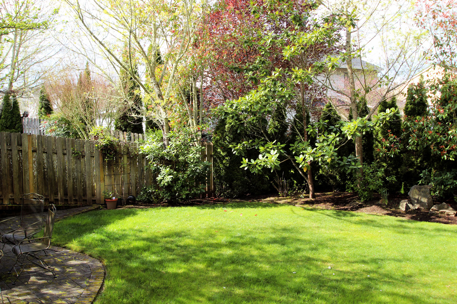 Back yard 5889 SW Englewood Av, Corvallis, OR 97333