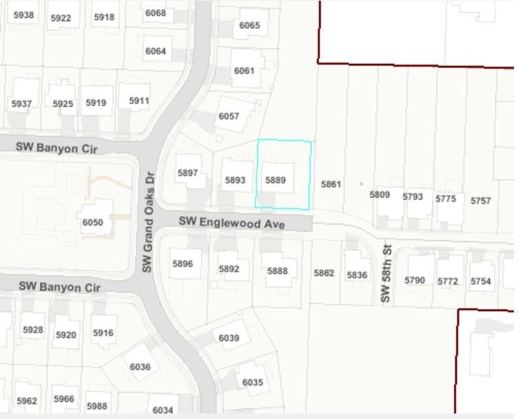 Map 5889 SW Englewood Av, Corvallis, OR 97333