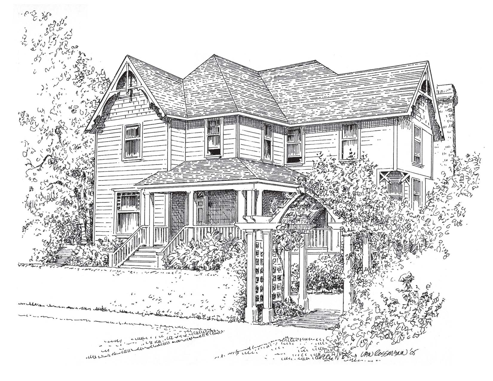 206 NW 8th Street, Corvallis, Oregon-Wells-Savage House By Rusty Van Rossmann