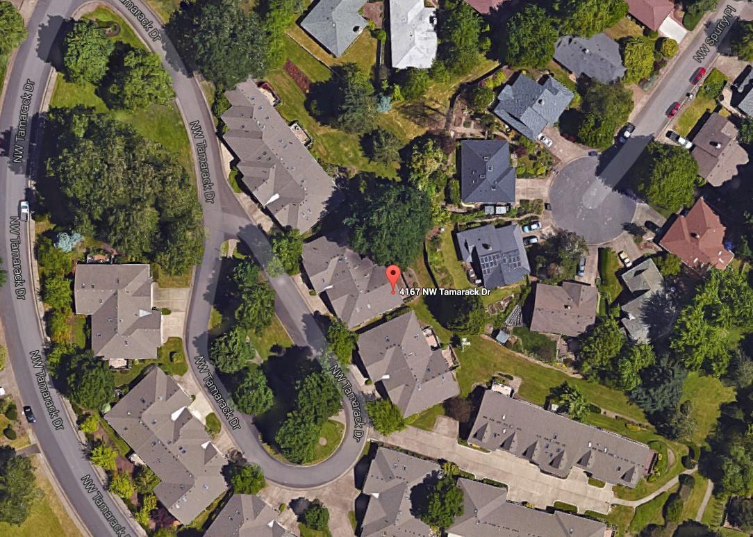4167 NW Tamarack Drive- Aerial Map