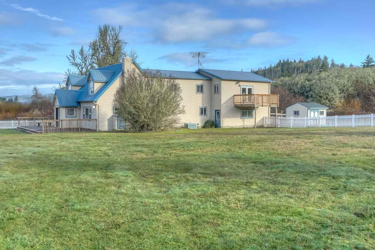37963 Kings Valley Highway, Kings Valley Oregon-- Back of Home